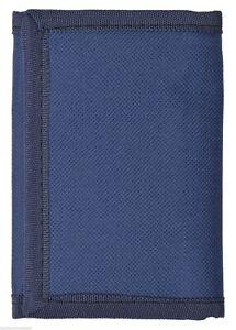 Kids Mens Solid Color Tri-Fold Wallet - Navy Blue