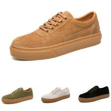 Mens Low Top Faux Leather Leisure Sneakers Boards Shoes Trainer Walking Sports L