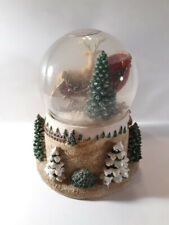 Disney (KCARE) Classic Sled W/Reindeer Presents Vintage Musical Snow Globe EUC!