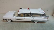 GREENLIGHT 1:18 1959 CADILLAC AMBULANCE(PRECISION MINIATURES)-WHITE - CASE NEW!!