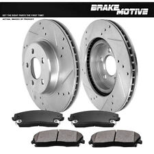 Front Drill & Slot Brake Rotors & Metallic Pads For Chrysler 300 Charger Magnum