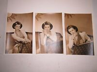 "(3) 1930'S JOAN BENNETT PHOTOS - 4"" X 6"" - TUB BMA"