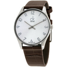 Nice Calvin Klein Classic Watch K4D 211 Silver Dial, Swiss Made Boxed & Manual