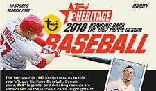 2016 TOPPS HERITAGE BASE CARD SINGLES # 1 - 200