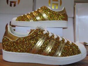 Wmns Adidas Originals Superstar 24 Karat Gold Metallc Glitter 6 FW8168 500 PAIRS