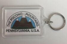 """The Poconos Mountains"" White Keychain"