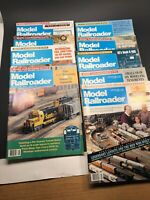 MODEL RAILROADER MAGAZINE 9 Issues 1989 Model Trains
