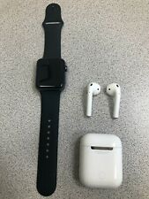 Apple Watch Series 3 42mm GPS Space Gray MQL12LL/A Excellent Condition + AIRPODS