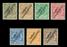German Colonies - SOUTH WEST AFRICA 1897 SURCH. complete set Sc# 1+1a -6 mint MH