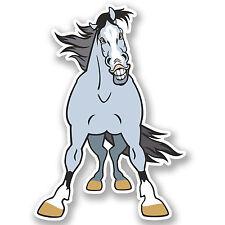 2 x 15 cm en colère cheval Autocollant Vinyle Voiture Ordinateur Portable iPad Casque Enfants Ferme Cadeau # 4919