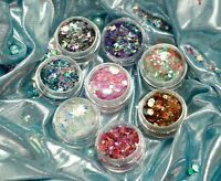 Super Chunky Cosmetic Glitter Mix Festival Dance Club Face Eye Body MUA Nail Art
