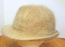 David & Young D&Y Angora Blend Fedora Bucket Hat Beige Brown DY 20-1 Retro Vtg
