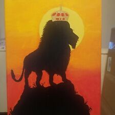 Black Artwork 16x20in Canvas Acrylic Painting ( Roaring Glory)