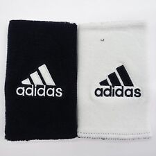 adidas Interval Large Reversible Tennis Wristband Black and White
