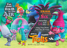 Trolls Invitation, Poppy Party, Trolls Birthday Invite