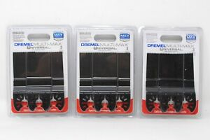 NEW 3 Packs Of Dremel 3 Piece Multi-Max Universal Quick-Fit Blades 4 Wood MM480B