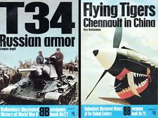 2 Ballantine Weapons Books: #21 T34 RUSSIAN ARMOR & #29 FLYING TIGERS (in China)