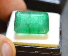 Natural 12.95 Ct.Emerald Shape Colombian Green Emerald Loose Gemstone For~Ring