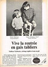 PUBLICITE ADVERTISING 065  1968   NYLFRANCE  tabliers enfants BAMABINO