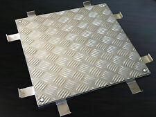 Schachtabdeckung, Schachtdeckel Alu Riffelblech, 400 x 400 mm, bodengleich
