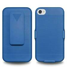 NEW BLUE CASE + BELT CLIP HOLSTER FOR APPLE iPHONE 4S 4 SPRINT VERIZON AT&T