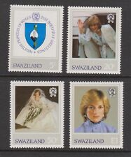 1982 Princess Diana 21st Birthday MNH Stamp Set Swaziland SG 404-407