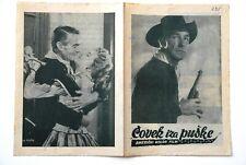 MAN BEHIND GUN RANDOLPH SCOTT 1953 WESTERN RARE EXYUGO MOVIE PROGRAM