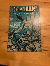 TALES TO ASTONISH SUB-MARINER AND THE INCREDIBLE HULK #98 DEC 1967 CENTS COPY Vg