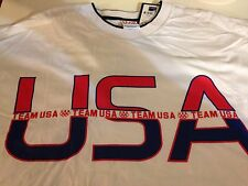 White Team USA T-Shirt. Olympic Memorabilia Collection Tee, 100% Cotton, New XXL