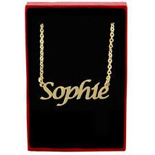 Sophie-nombre de Oro Cadena Collar Joyería-Navidad Regalos Personalizados