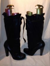 Marc By Marc Jacobs Ladies Leather Black Boots Uk 5.5 Ref My01