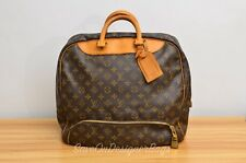 GU Louis Vuitton LV Evasion Travel Duffel Hand Bag Authentic w/ Lock Key Nametag