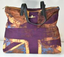 £349 VIVIENNE WESTWOOD Union Jack Large Tote Bag Shopper Handbag Weekender