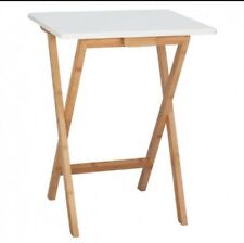 Habitat 'Drew' Bamboo And White Lacquer Folding Side Table BNIB