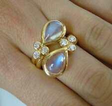 Anelli di lusso con gemme in oro giallo 18 carati Misura anello 7