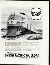 1942 Vintage Print Ad UNION PACIFIC RAILROAD train railroad