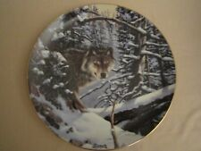Timber Wolf collector plate Derk Hansen Eyes of the Wild Rare