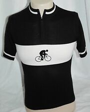 Awesome Portland Cycle Wear Bicycle Sweater Vest Black & White With Crest Small