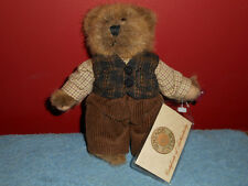 RUSS BERRIE Stuffed Plush Bear #44703 Retired VINTAGE EDITION Collection COA 7""