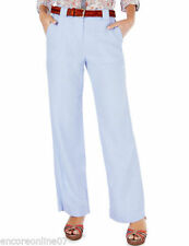 Marks and Spencer Plus Size Wide Leg Cotton Women's Trousers
