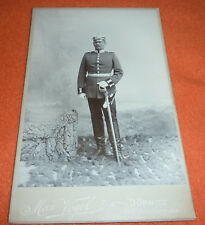 Unteroffizier mit Pickelhaube & Säbel Foto Übungsplatz Altengrabow Dörnitz 1902