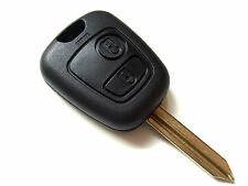 Citroen Berlingo Saxo Picasso Xsara  2 Button Remote Key Fob + Blank Blade