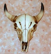 NEW~Bull Skull w/Horns Wall Hanging Decor Western Cowboy Tribal Cow Steer
