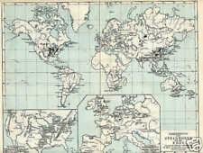 STEINKOHLE Vorkommen Steinkohlenbergbau KARTE von 1897