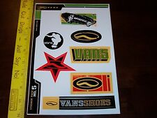 VTG 90's VANS NOS OLD SCHOOL SKATEBOARD SURF SURFING SNOWBOARD BMX STICKER LOT !