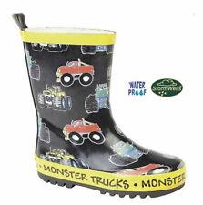 Stormwells  'Monster Trucks  Rubber Wellington BLACK / MULTI size 2 UK