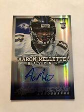 Aaron Mellette Rookie RC Auto 2013 Panini Absolute Baltimore Ravens #'ed 220/499