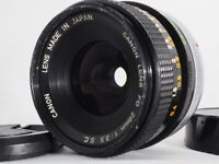 <Excellent+++> Canon FD 28mm f/3.5 S.C. Wide Angle Prime MF Lens from Japan #076