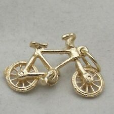 MOVING 9ct GOLD BICYCLE CHARM