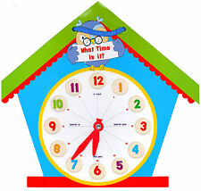 LEARN TO TELL THE TIME CLOCK SHAPED CHILDRENS EDUCATIONAL LEARNING TOY ECLO